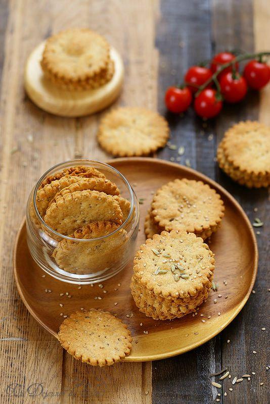 Crackers au sésame, fenouil et huile d'olive                                                                                                                                                                                 Plus