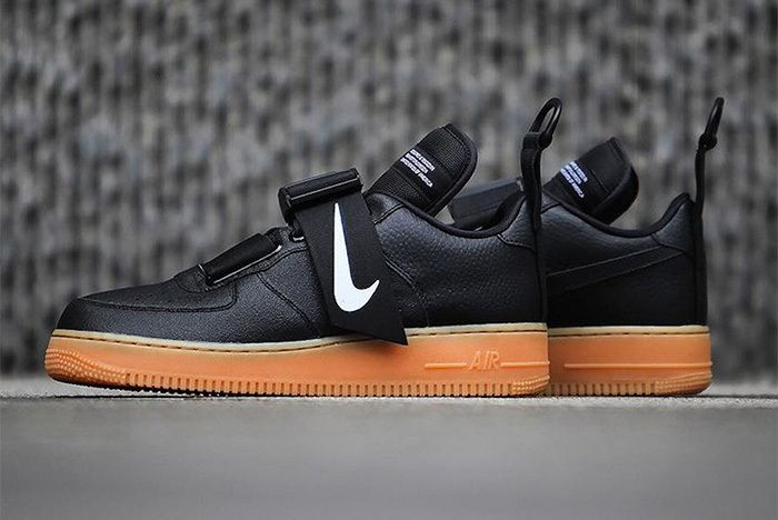 Nike S Air Force 1 Low Utility Surfaces In Black Gum Nike Air