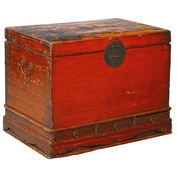 Forsyth Trunk | would be great in the living room for blankets and pillows