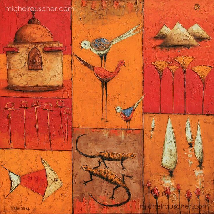Michel RAUSCHER   Peintures - Huile sur toile - 60 x 60 cm -2008