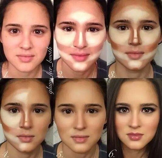 Amazon.com : Powder Contour Highlight Makeup Palette - 6 ...