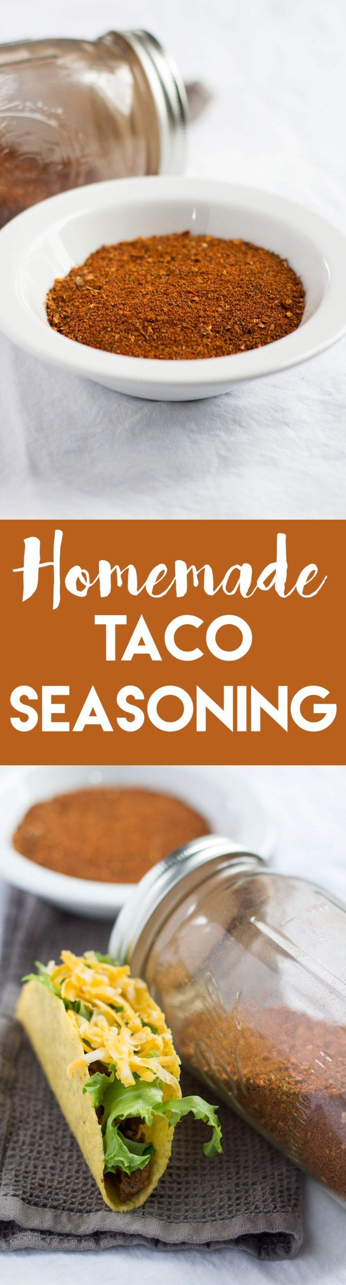 DIY taco seasoning helps you get the most out of your taco nights—it's healthier and way more flavorful than store-bought mixes! | goldenbrownanddelicious.com