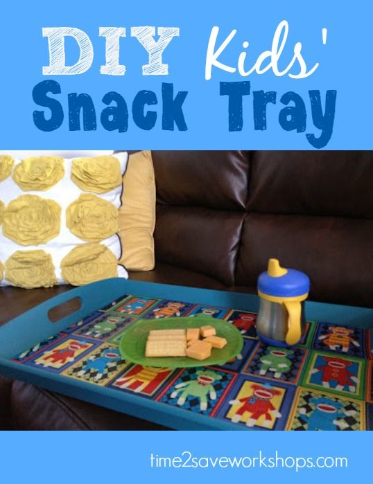 DIY Kids' TV Snack Tray  - would make a great Christmas gift along with some favorite snacks and a DVD! - Time 2 Save Workshops