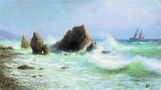 Лагорио Л.Ф. У берегов Ливадии 1895 (Государственная Третьяковская галерея)