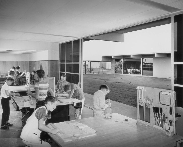 Garden Grove Elementary School By Richatd Neutra 1650 1323 Architecture Commercial Etc