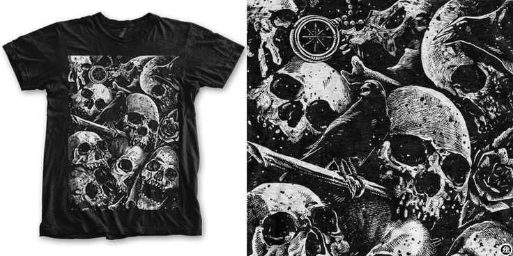 """""""place of death"""" t-shirt design by sebrodbrick"""