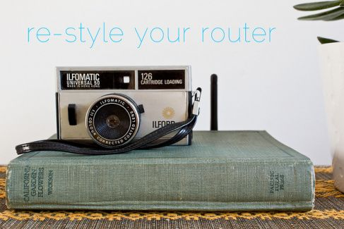 Disguise your router with an old book