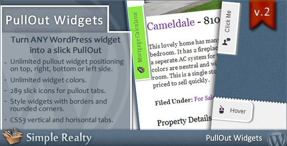 PullOut Widgets for WordPress - CodeCanyon Item for Sale $15