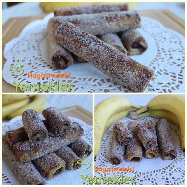Nutellalı ve muzlu tost ekmeği