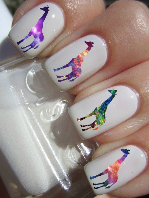 Galaxy Giraffe Nail Decals