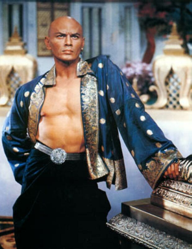 "Yul Brynner as King Mongkut of Siam in ""The King and I""  He can eat crackers in my bed ANYTIME!"