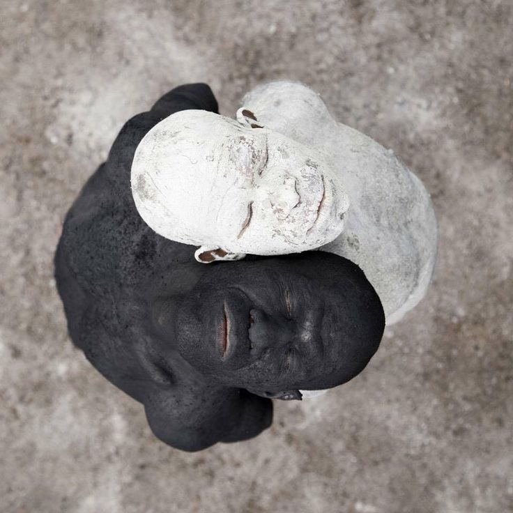 © Roberto Falck this is really interesting, it seems simultaneously racist and humbling in the eye of race. It reminds me of a yin yang symbol and harmony