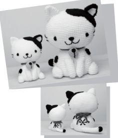 Patrón gratis amigurumi de gatos japoneses