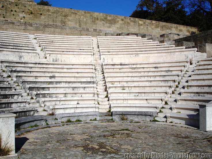 Ancient Greek Theater - New Town Rhodes Island Greece