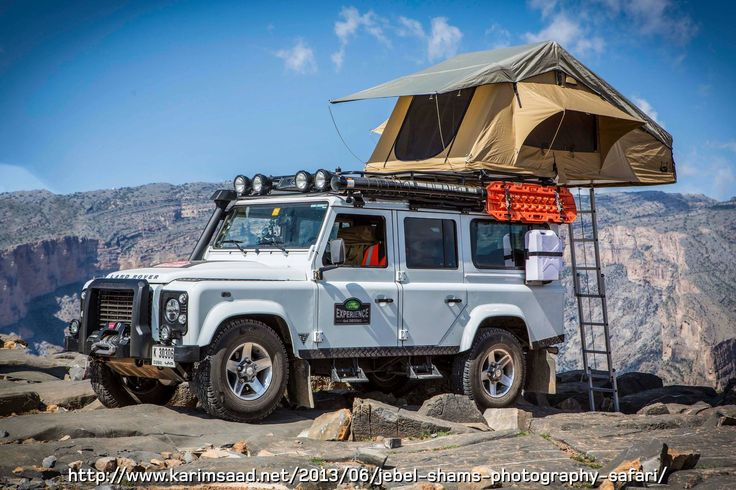 // Land Rover camping