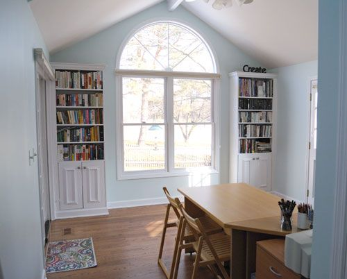 Like The Bookcase Idea On Either Side Of Window,,,,then Could Do. Blue Home  OfficesBench ...