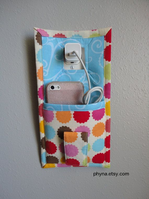Dots Phone Wall Charger Holder for iPhone Wall Dock by Phyna, $14.00