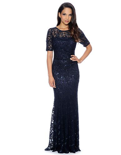 Decode 1.8 Long Beaded Lace Gown