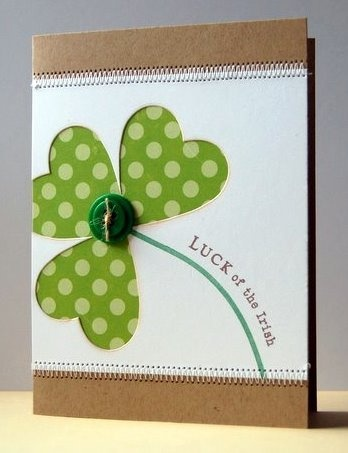 Luck of the Irish to you!  Super cute idea for St Patricks Day card