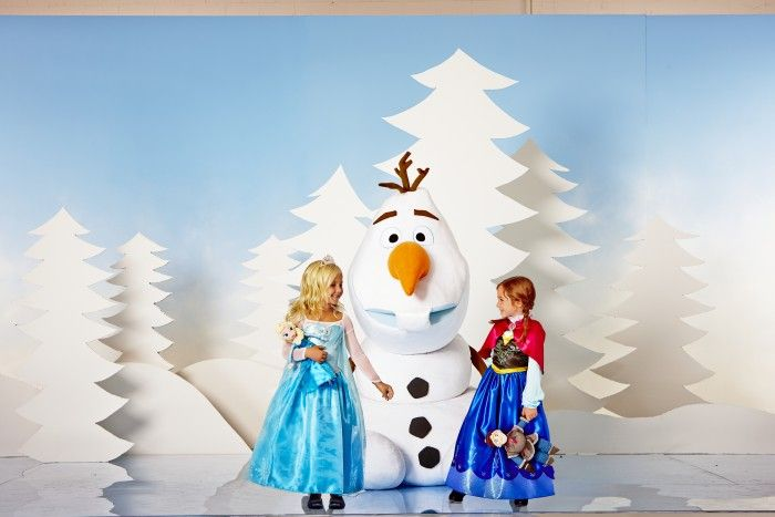 Disney Frozen Elsa and Anna costumes and super-size Olaf plush toy
