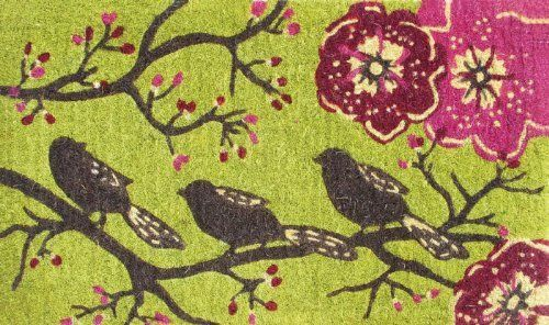 """Three Little Birds Coir Mat by House-Impressions. $19.99. Eco-friendly. From the Coir Mat Collection. Great for yourself or as a gift!. 16"""" W x 28"""" L. Made of Coir. Our exclusive Evergreen designs are woven with natural coir made of coconut fiber and a recycled rubber backing. These mats are designed to be both functional and beautiful as each mat comes designed with excellent dirt trapping capability and intricate design sure to impress all your friends and neighbors. What's mo..."""