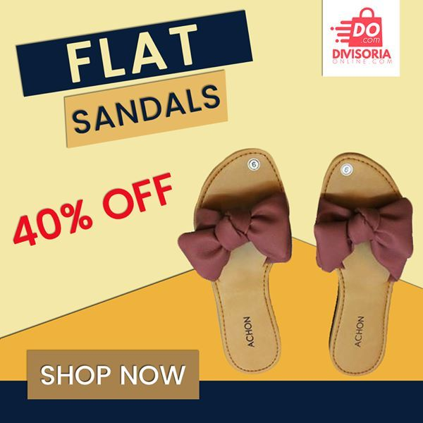 f8e81365b Pin by Divisoria Online on Women's Shoes | Fashion flats, Flat sandals,  Sandals