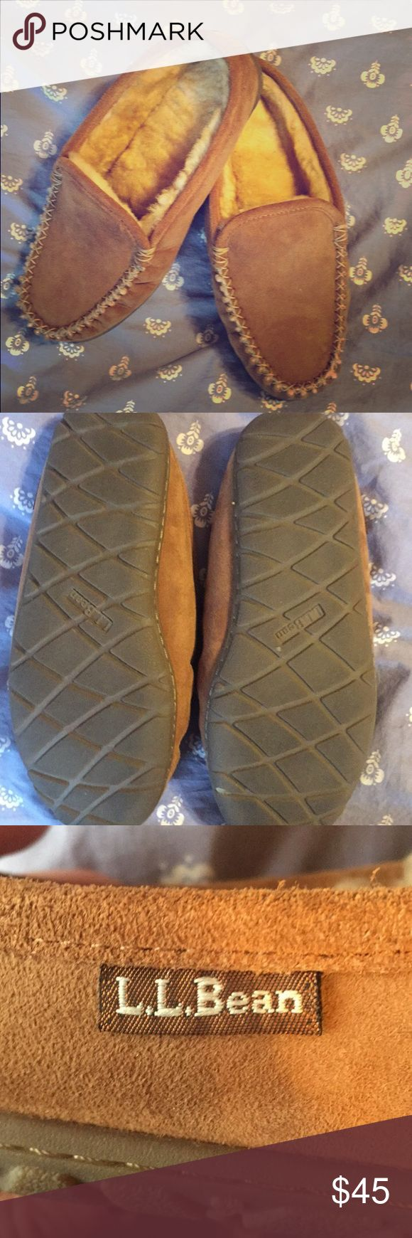 LL Bean Woman's Wicked Good Scuffs These slippers are really comfortable and warm. Only worn a handful of times and are in near perfect condition. Only selling because they are not vegan but are still high quality slippers that deserve some love! L.L. Bean Shoes Moccasins