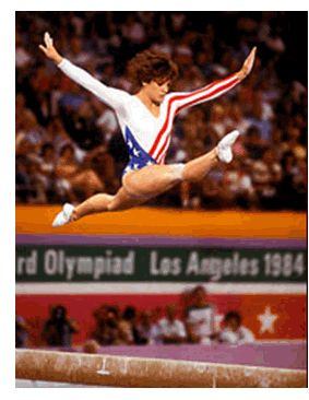 Mary Lou Retton,  All American girl and gold winning darling of the 1984 Olympics.
