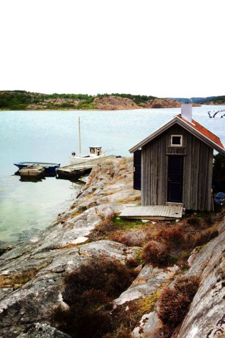 Quaint Fishing Hut by the Water..... west coast of Sweden in Bohuslän is the village of Fiskebäckskil