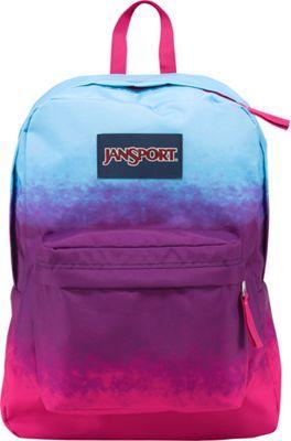 JanSport SuperBreak Backpack Purple Night Color Ombre - via eBags.com!
