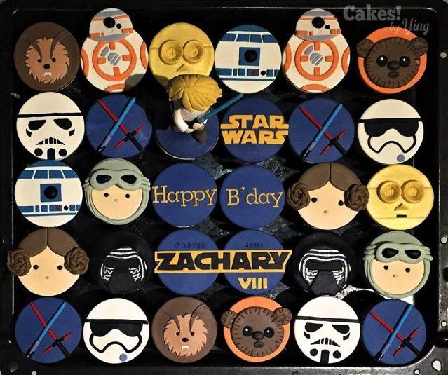 Fabulous Star Wars Birthday Cupcakes