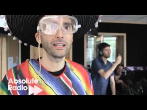 Just in case anybody out there was having a bad day, here is a video of David Tennant getting slapped in the face with a fish. In a sombrero.