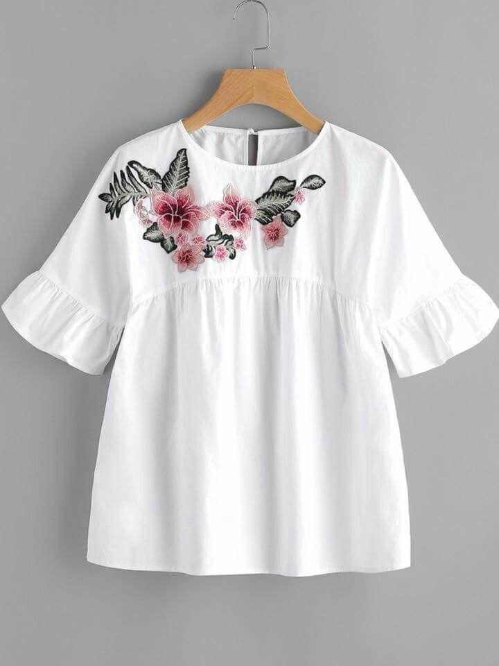 f4840855208e8 White embellished blouse