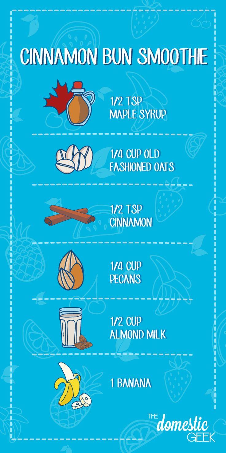Cinnamon Bun Smoothie Recipe!
