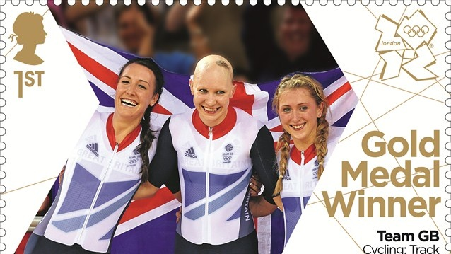 Team GB Cycling gold stamp