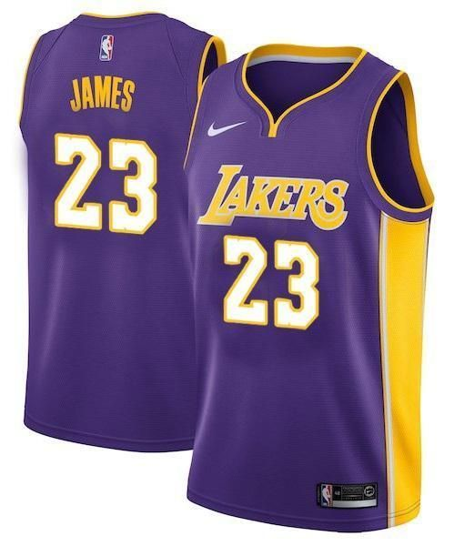 best website 842e9 2454b Men 23 Lebron James Jersey Purple Los Angeles Lakers ...