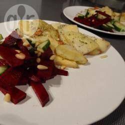 Dinner: Gebakken knolselderij met bietensalade