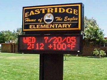 LED School Sign, Eastridge Elementary