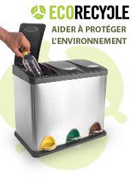 Ecorecycle poubelle aider à protéger l'environnement