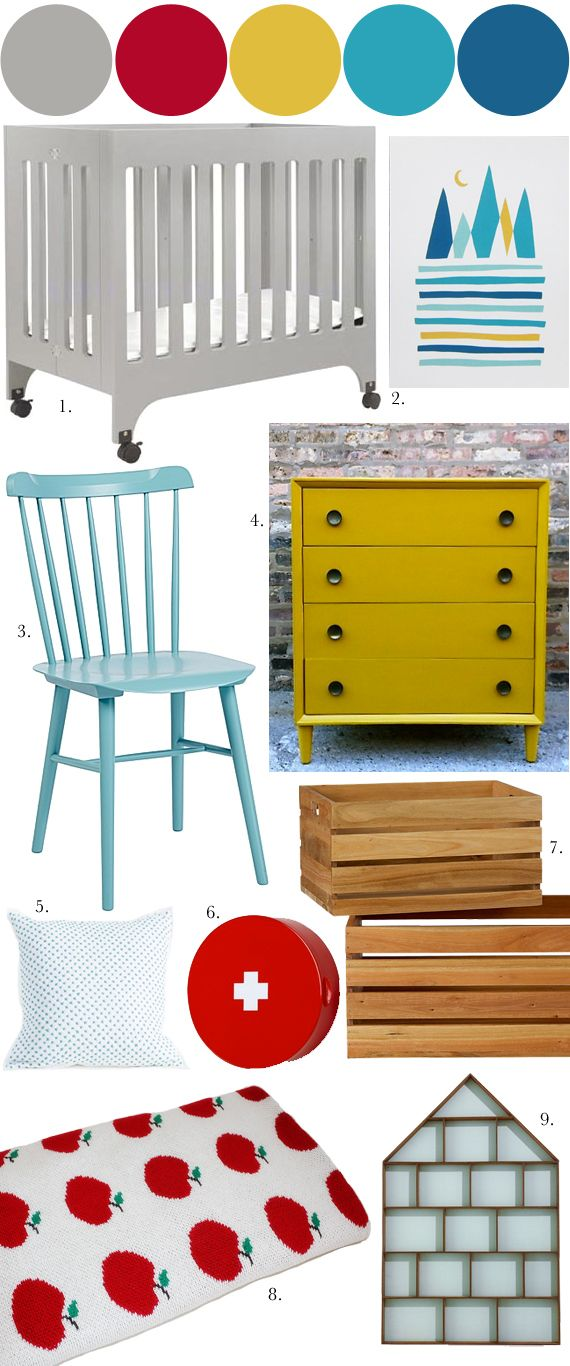 Nursery Mood Board, primary colors « Spearmint Baby