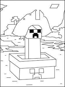 minecraft pirate coloring page