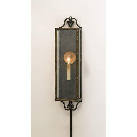 17+ best ideas about Plug In Wall Sconce on Pinterest Plug in chandelier, Repair indoor walls ...