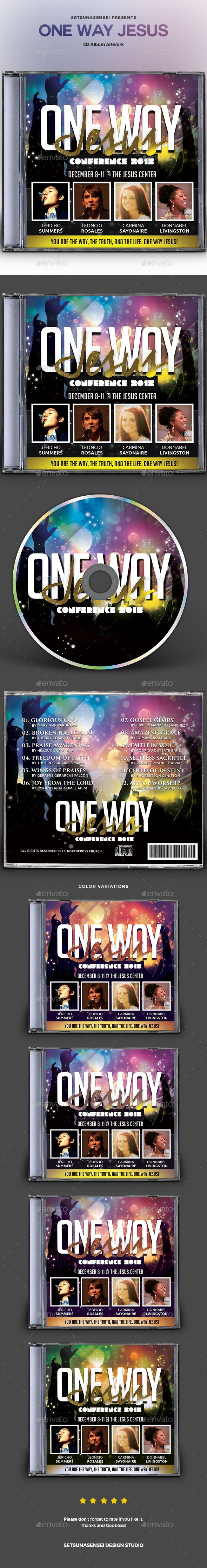 One Way Jesus CD Album Artwork - #CD & DVD Artwork Print Templates