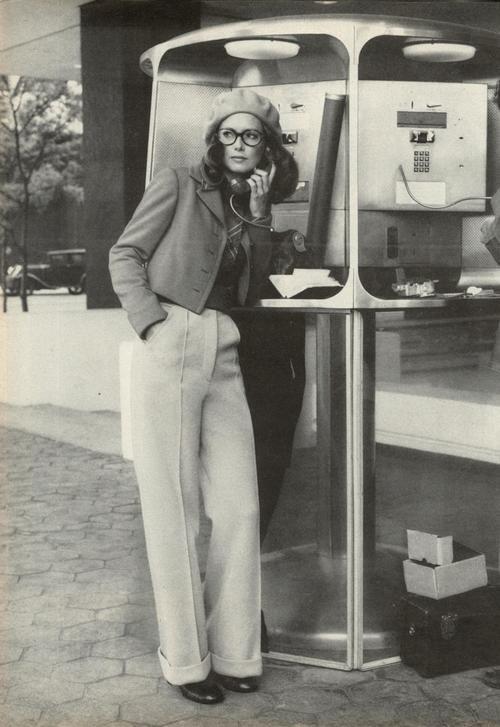 Karen Graham in a 1970s Estee Lauder ad.