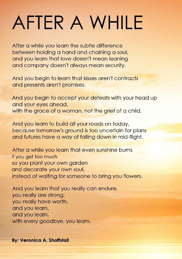After a While Poem