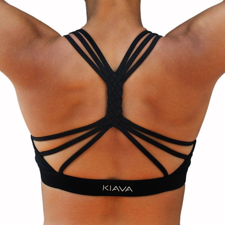 braided black bra by kiava clothing.