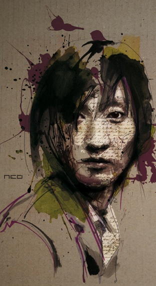 Florian Nicolle on EveryArt. Using a variety of different tools including a bic pen, watercolors and Chinese ink, artist Florian Nicolle creates amazing, mixed media portraits. After a rigorous amount of drawing and painting, she then adds texture and detail using Photoshop.