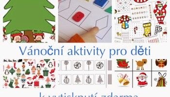 Vánoční pracovní listy pro malé děti k vytisknutí zdarma