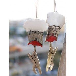 raining men, earrings