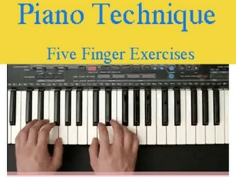 Piano Finger Exercises http://www.zebrakeys.com/blog/2009/07/five-finger-exercise - Learn how to use this technique to help enhance your piano skills. Practice this daily.